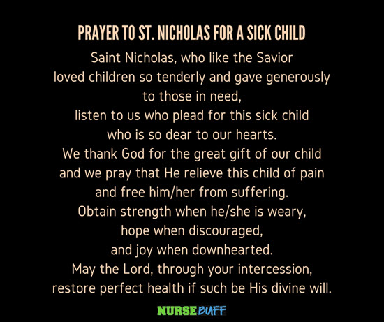 healing prayer for the sick