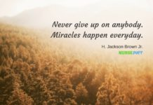 nurse quote miracles happen