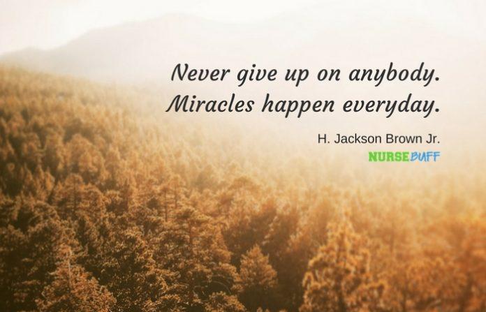nurse quote miracles happen