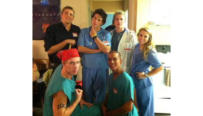 scrub suits in halloween party