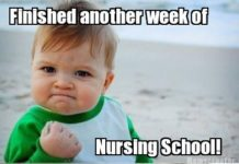 surviving nursing school meme
