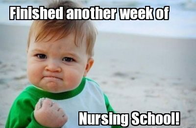 surviving nursing school meme