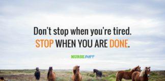 nurse quote dont stop