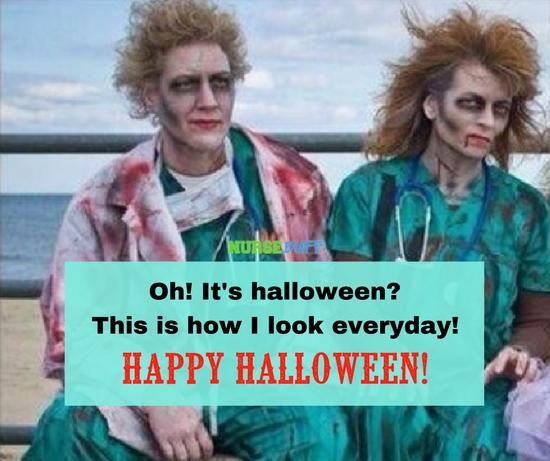 halloween greetings zombie nurses
