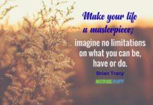 nurse quote life a masterpiece