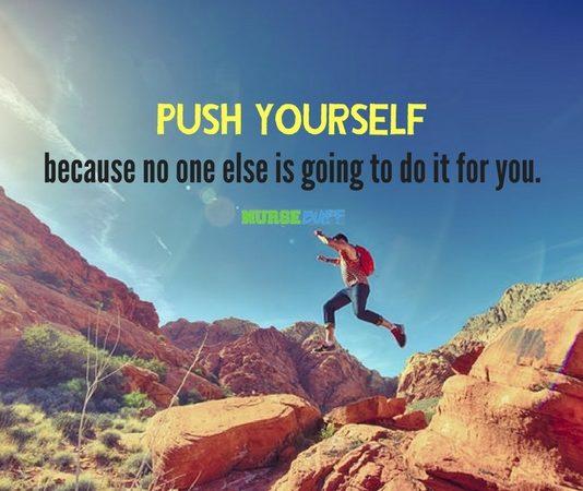 nurse quote push yourself