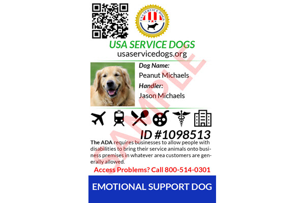 emotional support dog identification
