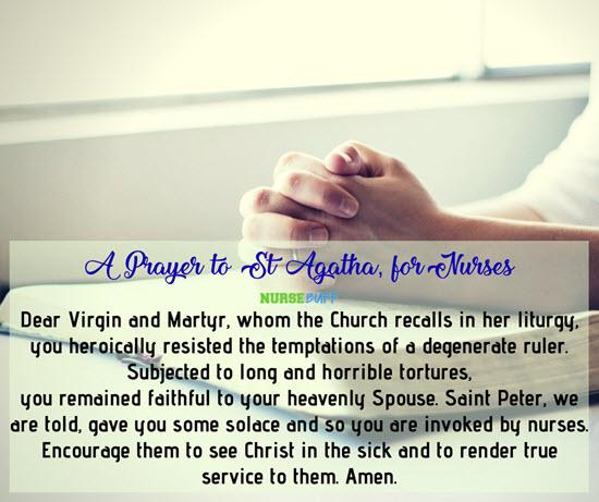 nurses st agatha prayer