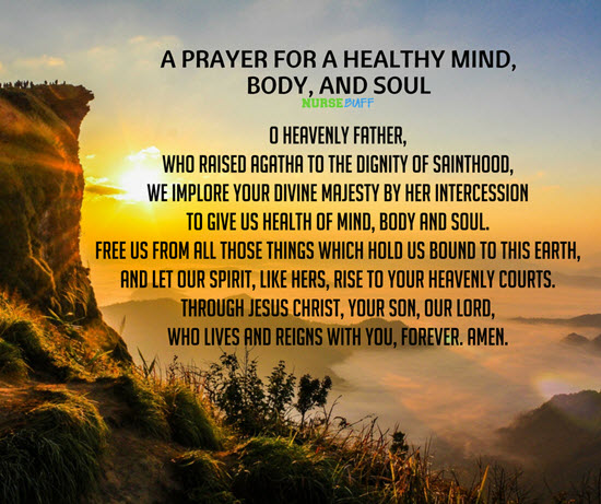 prayer for healthy mind body and soul
