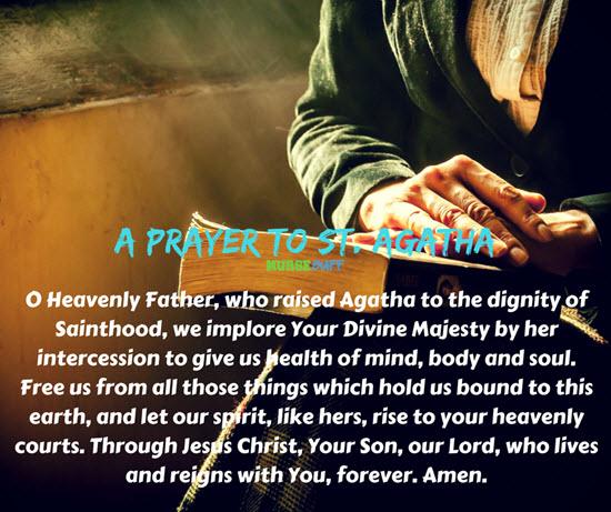 prayer to st agatha
