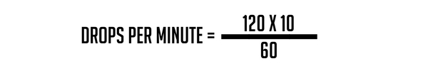 rate of infusion example 1