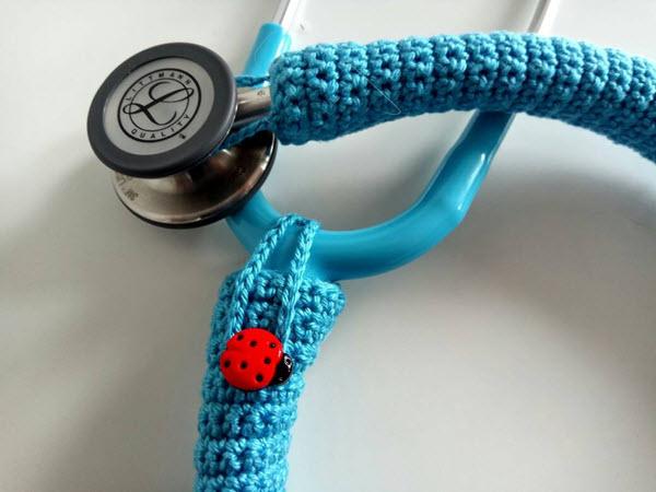 crochet stethoscope cover