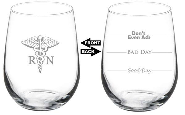 nurse funny wine glass
