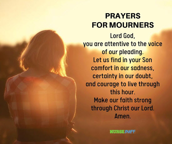 prayers for mourners
