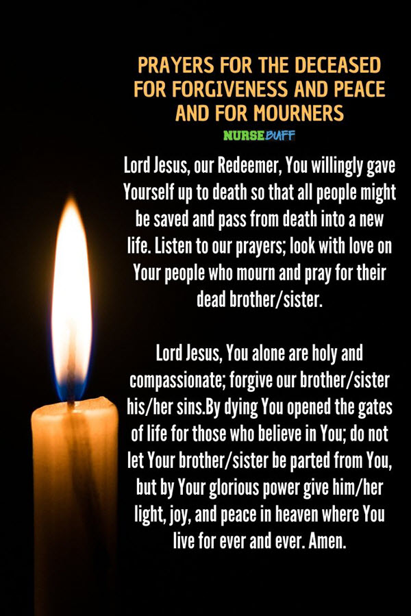 prayers for the deceased for forgiveness and peace