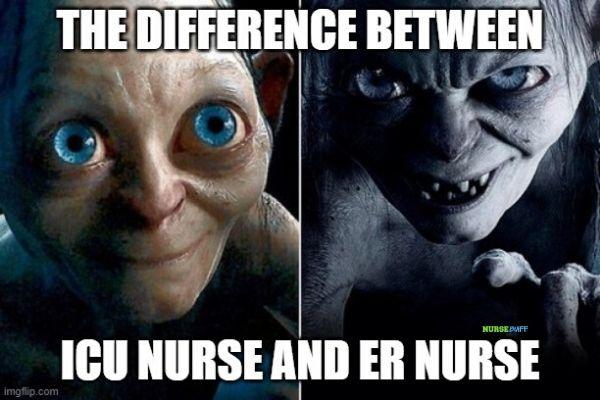 er nurse and icu nurse meme