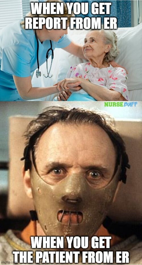 er nurse patient report meme