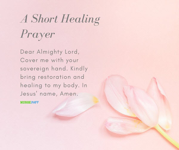 a short healing prayer for cancer patients
