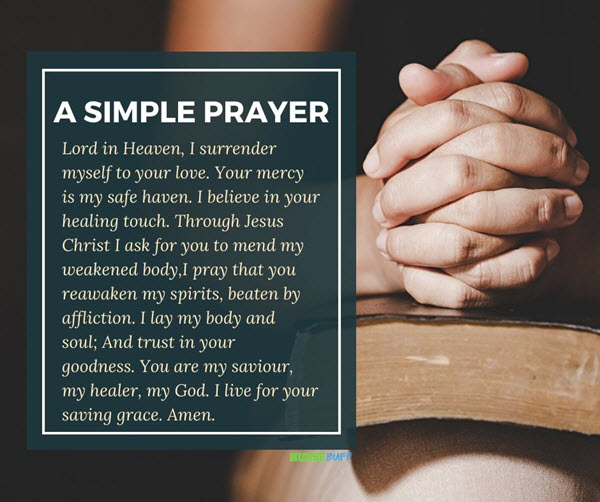 a simple prayer for cancer patients