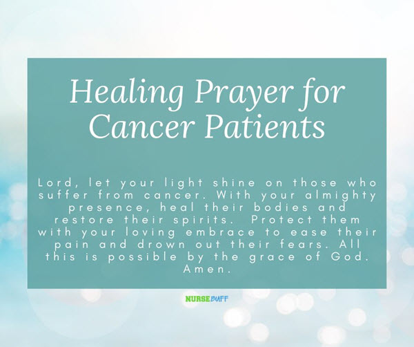 healing prayer for cancer patients