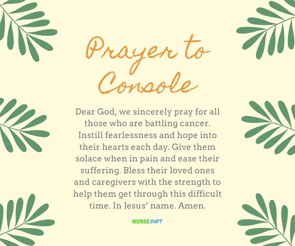 prayer to console for cancer patients