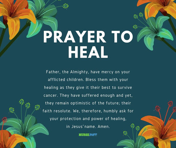 prayer to heal for cancer patients