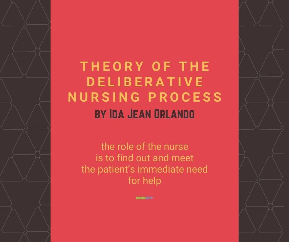 nursing theories of the deliberative nursing process