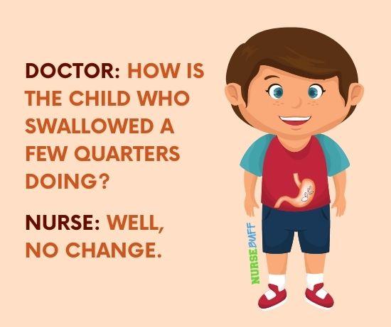 funniest nurse child who swallowed a quarter jokes
