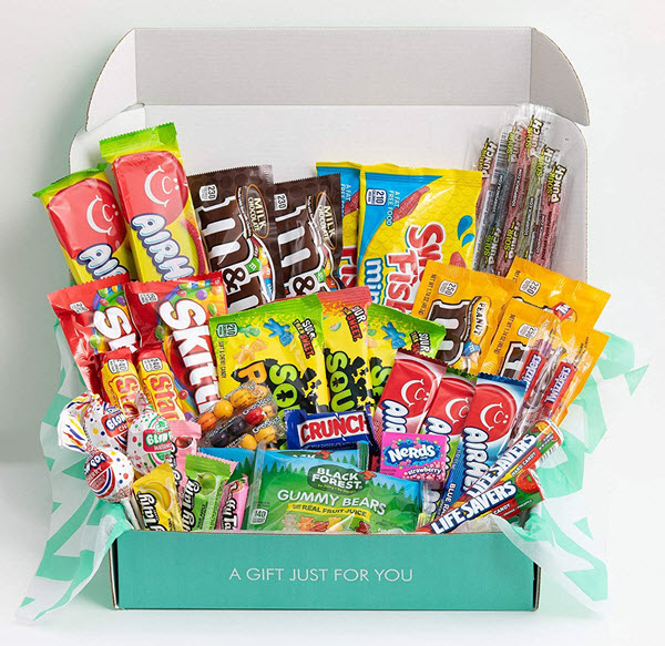 candy snack box care package