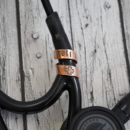 copper rose gold stethoscope