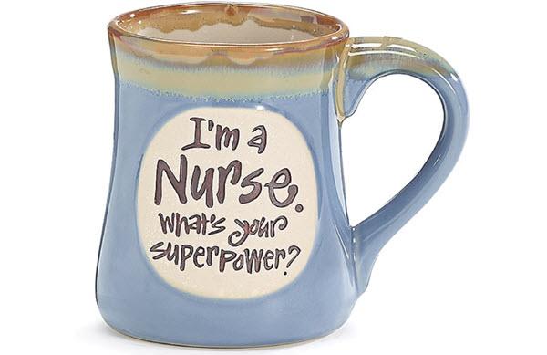 im a nurse whats your superpower mug