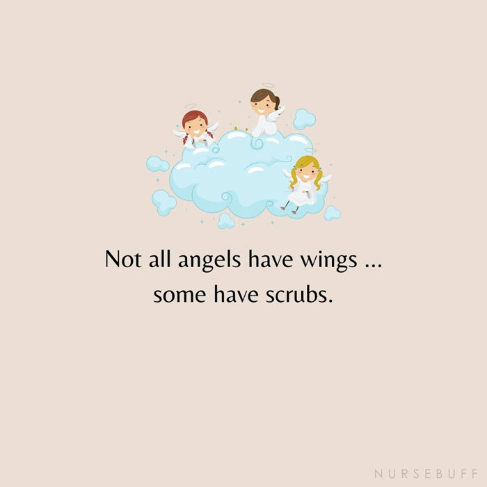 instagram captions for nurses angels have scrubs