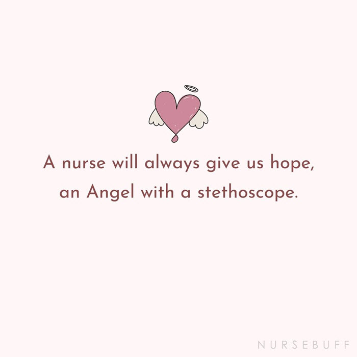 nursing angel with a stethoscope quotes