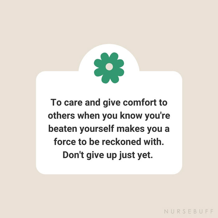nursing care and give comfort quotes