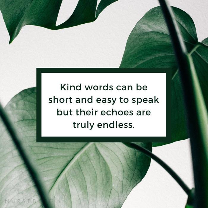 nursing kind words quotes