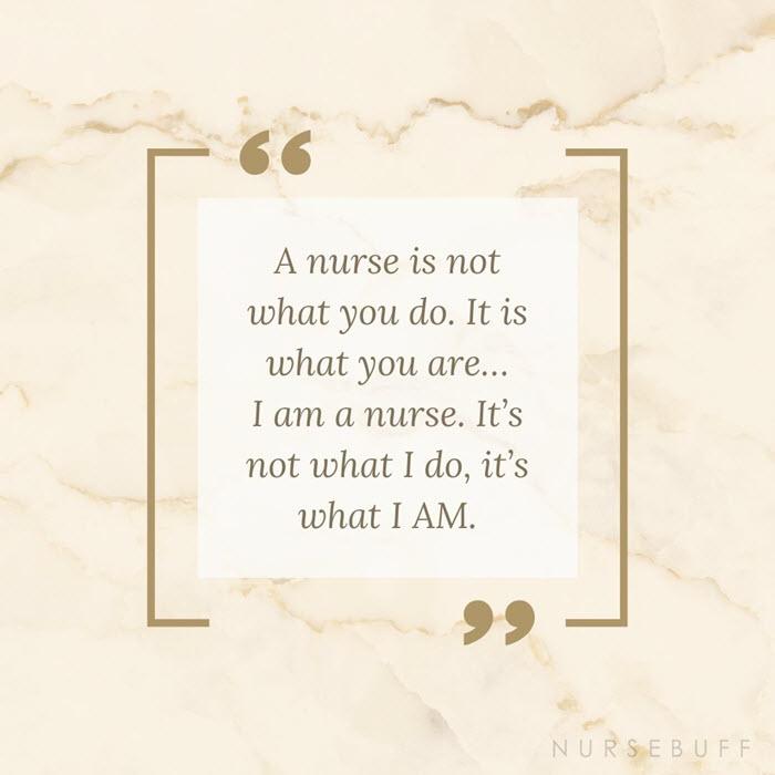 nursing nurse is what i am quotes
