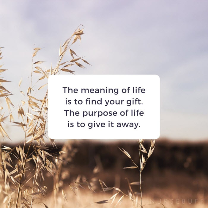 nursing purpose of life quotes