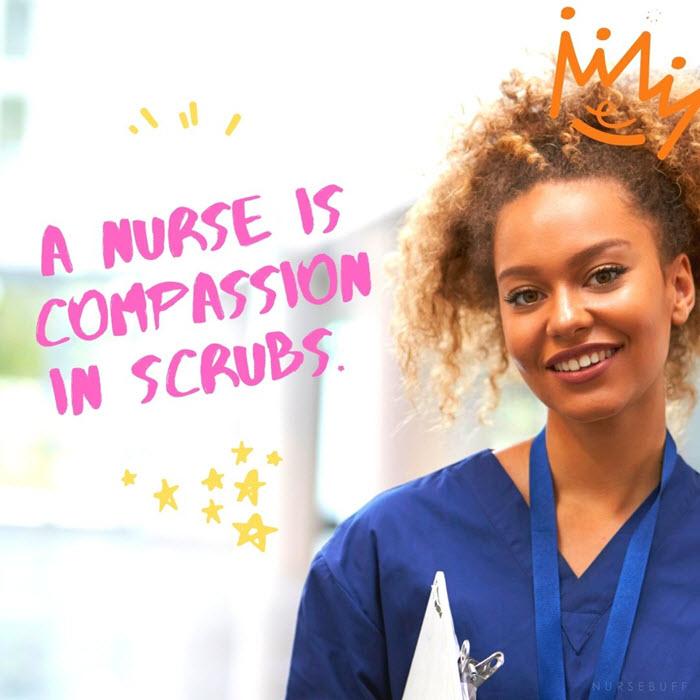 nursing quotes compassion in scrubs