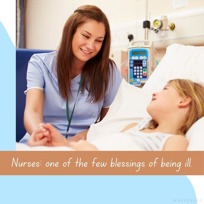 nursing quotes few blessing of being ill