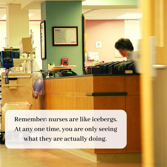 nursing quotes nurses are like icebergs