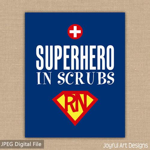 superhero in scrubs sign