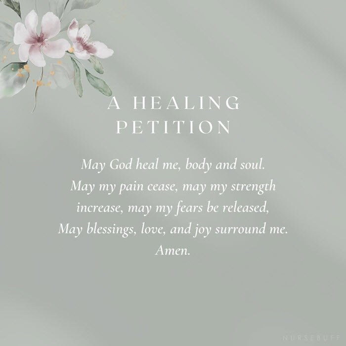 a healing petition for cancer patients