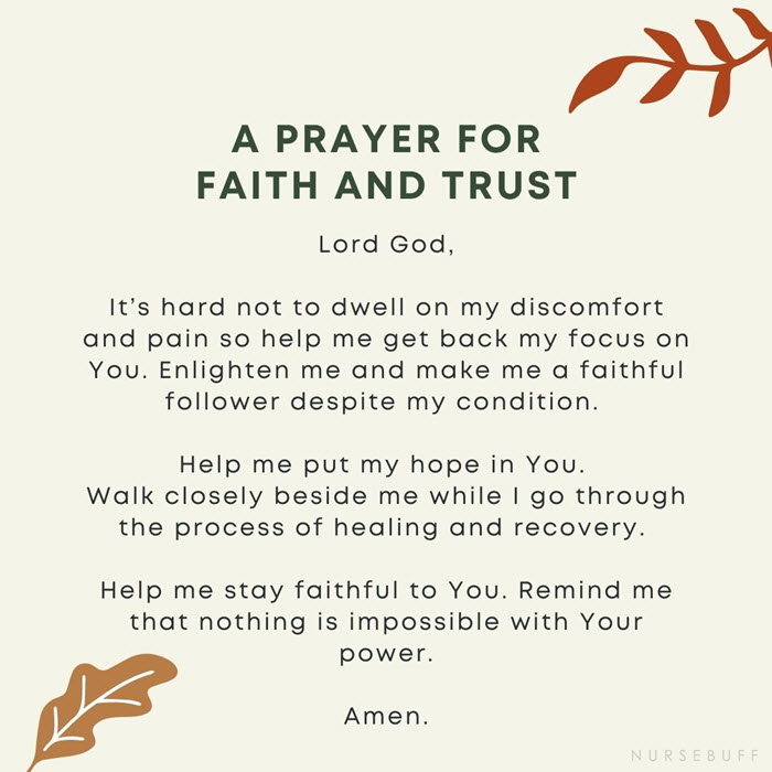 a prayer for faith and trust