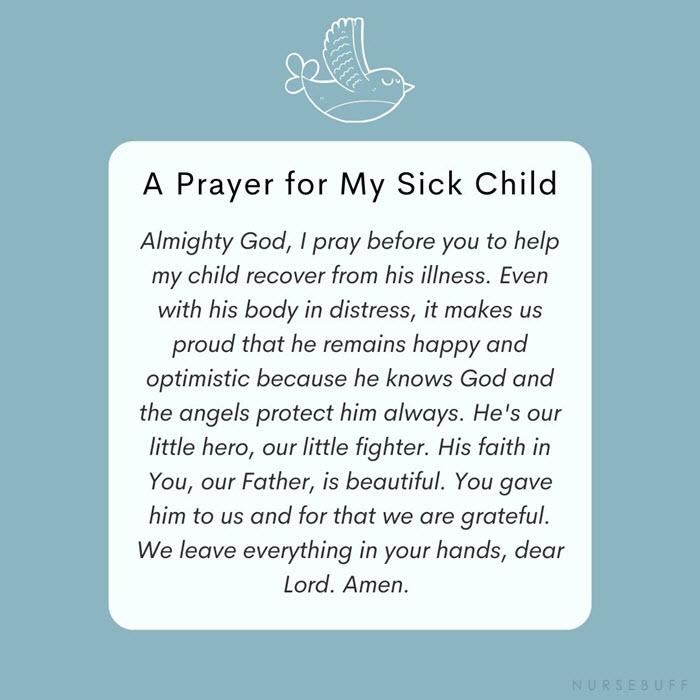 a prayer for my sick child