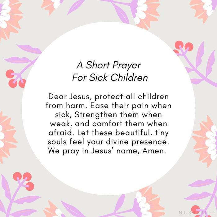 a short prayer for sick children