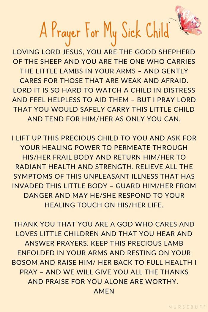 long prayer for my sick child