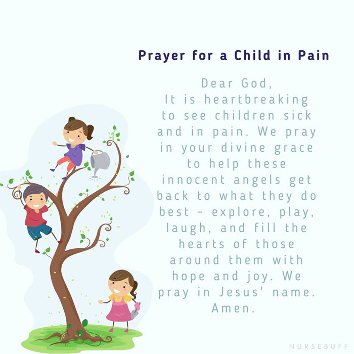 prayer for a child in pain