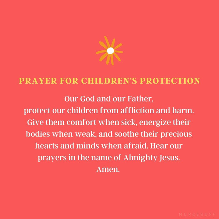 prayer for childrens protection