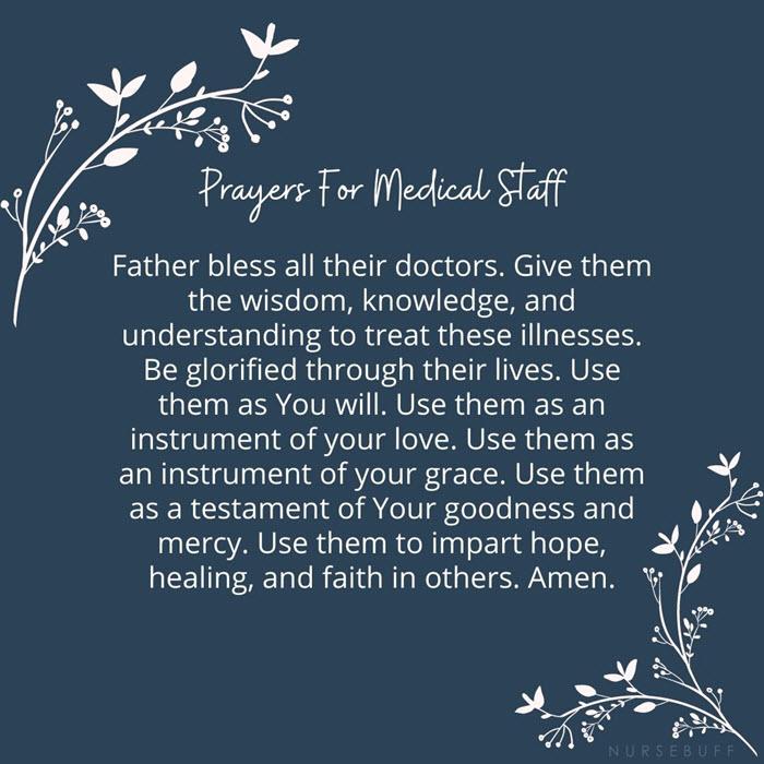 prayer for medical staffs