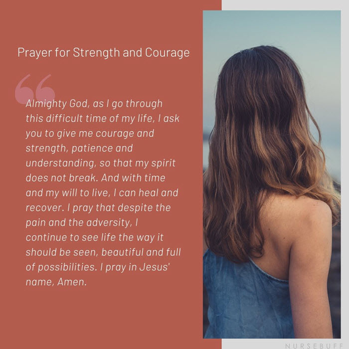 prayer for strength and courage for cancer patients